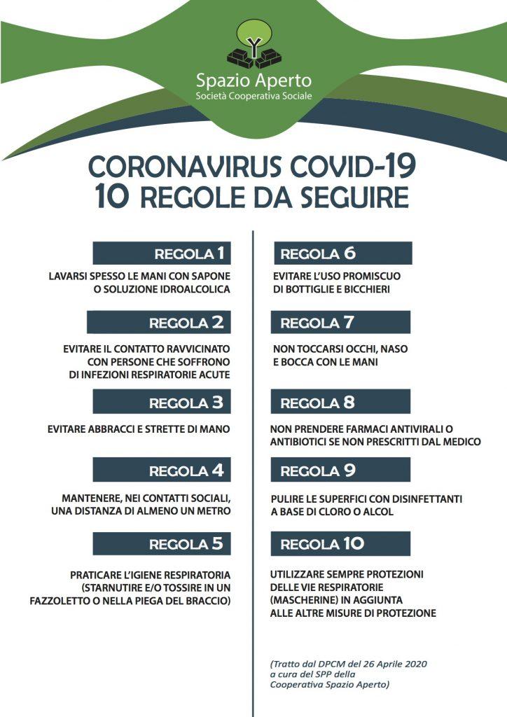10 REGOLE DA SEGUIRE
